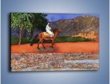 Obraz na płótnie – Arabski szejk na koniu – jednoczęściowy prostokątny poziomy GR052