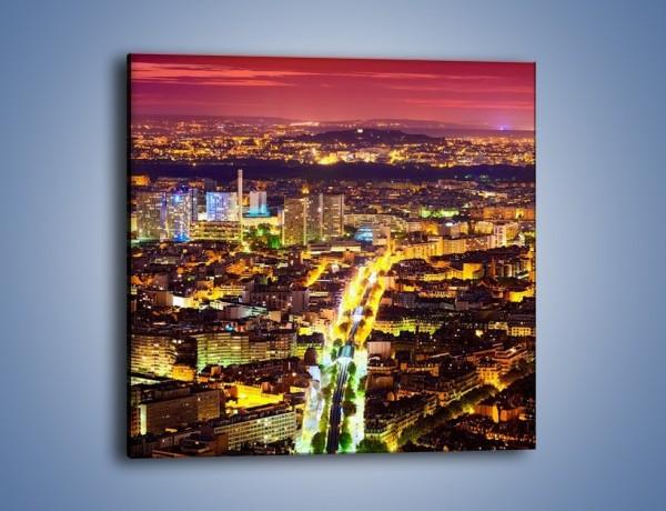 Obraz na płótnie – Kolory Paryża nocą – jednoczęściowy kwadratowy AM419