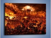 Obraz na płótnie – Bitwa z demonami – jednoczęściowy prostokątny poziomy GR137