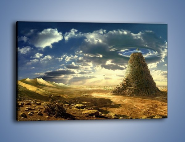 Obraz na płótnie – Przez górę aż do chmur – jednoczęściowy prostokątny poziomy GR139