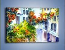 Obraz na płótnie – Widok z okien na kwiaty – jednoczęściowy prostokątny poziomy GR165
