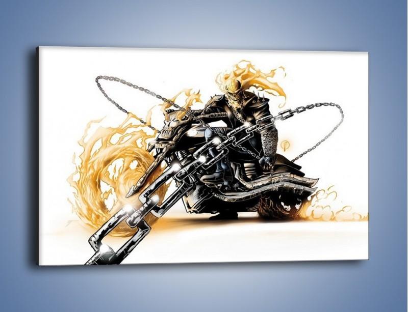 Obraz na płótnie – Mroczna postać na motorze – jednoczęściowy prostokątny poziomy GR167