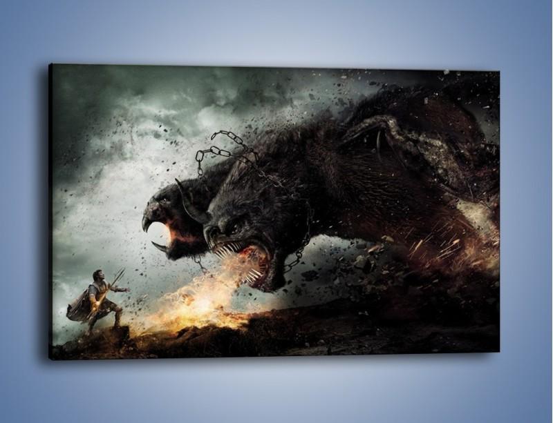 Obraz na płótnie – Groźny podmuch potworów – jednoczęściowy prostokątny poziomy GR174