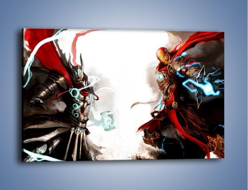 Obraz na płótnie – Walka z potężną siłą – jednoczęściowy prostokątny poziomy GR207