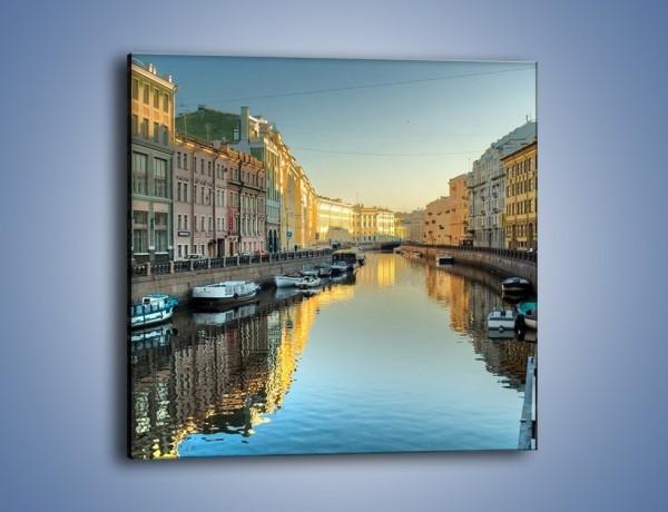 Obraz na płótnie – Kanał wodny w St. Petersburgu – jednoczęściowy kwadratowy AM422