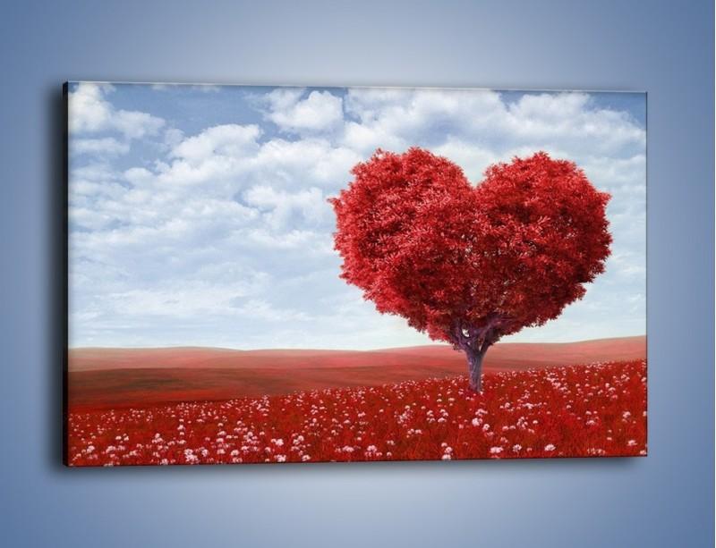 Obraz na płótnie – Polaną w stronę miłości – jednoczęściowy prostokątny poziomy GR249