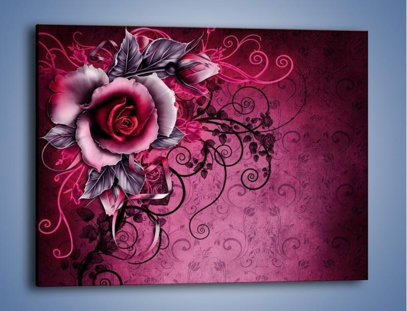 Obraz na płótnie – Róża i purpur – jednoczęściowy prostokątny poziomy GR272