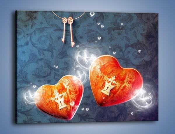 Obraz na płótnie – Klucz do odpowiedniego serca – jednoczęściowy prostokątny poziomy GR278
