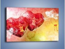 Obraz na płótnie – Strzał amora w serce – jednoczęściowy prostokątny poziomy GR279