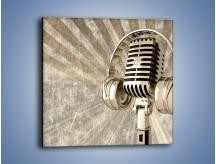 Obraz na płótnie – Głos w srebrnym mikrofonie – jednoczęściowy kwadratowy O026