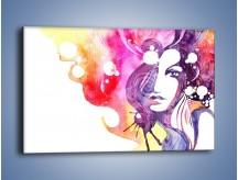 Obraz na płótnie – Barwy w otoczeniu kobiety – jednoczęściowy prostokątny poziomy GR296