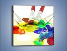 Obraz na płótnie – Kolory pędzlem malowane – jednoczęściowy kwadratowy O046