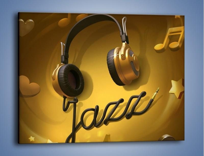 Obraz na płótnie – Złote nuty jazzu – jednoczęściowy prostokątny poziomy GR305