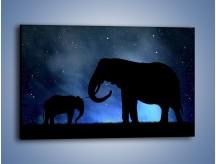 Obraz na płótnie – Córka i mama nocą – jednoczęściowy prostokątny poziomy GR315