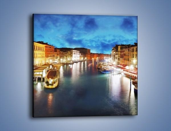 Obraz na płótnie – Światła Wenecji po zmroku – jednoczęściowy kwadratowy AM430