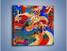 Obraz na płótnie – Kolorowe potwory z bajki – jednoczęściowy kwadratowy O093