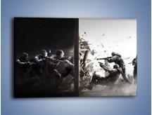Obraz na płótnie – Atak kontra obrona – jednoczęściowy prostokątny poziomy GR384