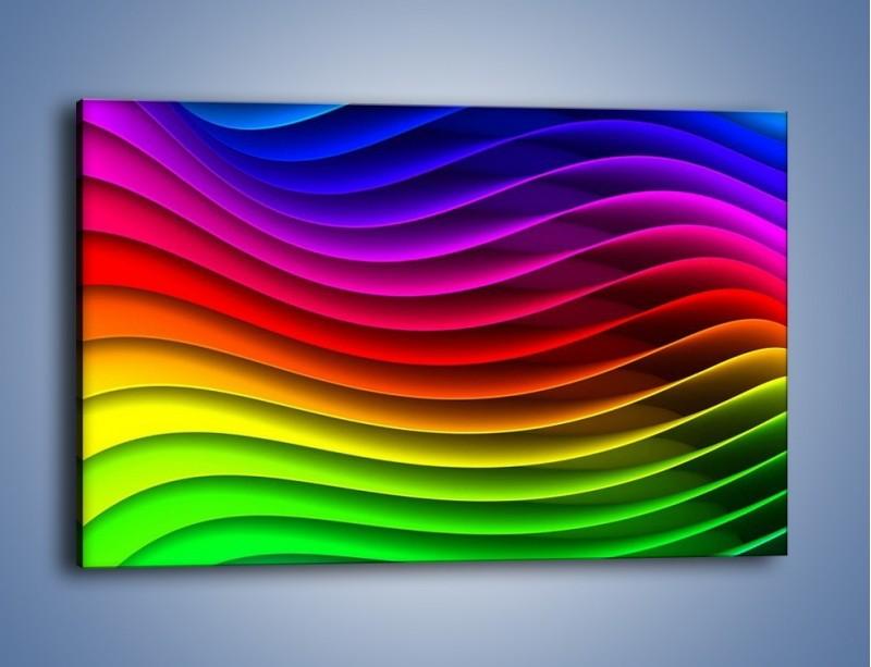 Obraz na płótnie – Falą w kolorze – jednoczęściowy prostokątny poziomy GR393