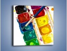 Obraz na płótnie – Kolorowy świat malowany farbami – jednoczęściowy kwadratowy O116