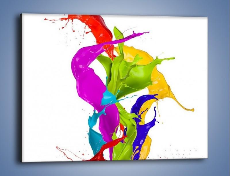 Obraz na płótnie – Wirujące barwy – jednoczęściowy prostokątny poziomy GR420