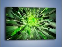 Obraz na płótnie – Ostre kawałki zieleni – jednoczęściowy prostokątny poziomy GR422