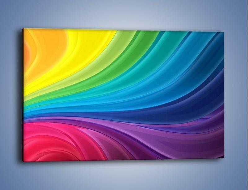 Obraz na płótnie – Zachowane kolory tęczy – jednoczęściowy prostokątny poziomy GR424