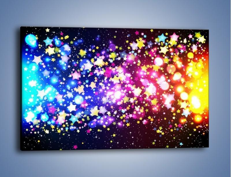 Obraz na płótnie – Kolory widziane nocą – jednoczęściowy prostokątny poziomy GR432