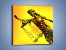 Obraz na płótnie – Figurka ważna w świecie prawa – jednoczęściowy kwadratowy O164