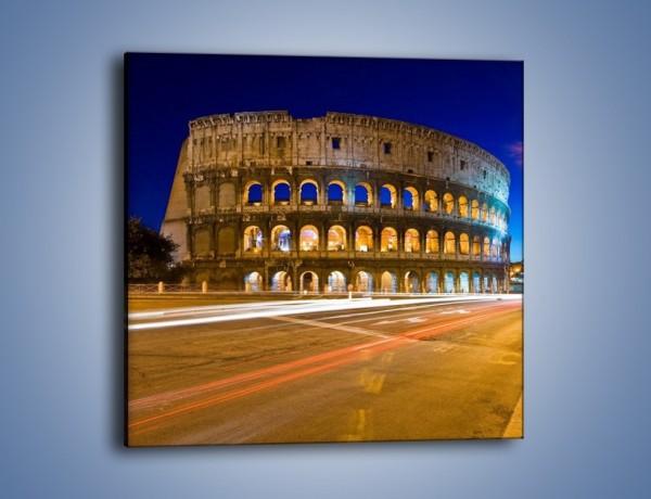 Obraz na płótnie – Koloseum po zmierzchu – jednoczęściowy kwadratowy AM443