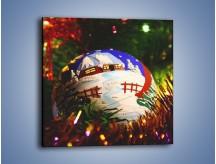 Obraz na płótnie – Bombka ręcznie malowana – jednoczęściowy kwadratowy O168