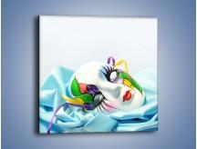 Obraz na płótnie – Kolorowa maska na błękicie – jednoczęściowy kwadratowy O180