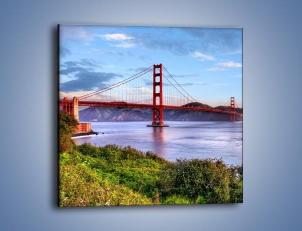 Obraz na płótnie – Most Golden Gate w San Francisco – jednoczęściowy kwadratowy AM444