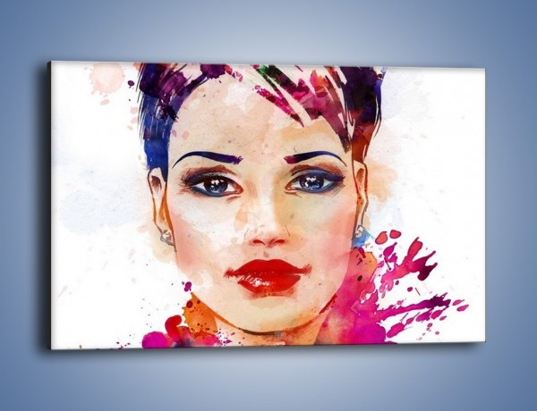 Obraz na płótnie – Piękna kobieta w kolorze – jednoczęściowy prostokątny poziomy GR499