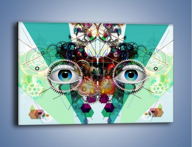 Obraz na płótnie – Mechanicznie otwarte oczy – jednoczęściowy prostokątny poziomy GR504
