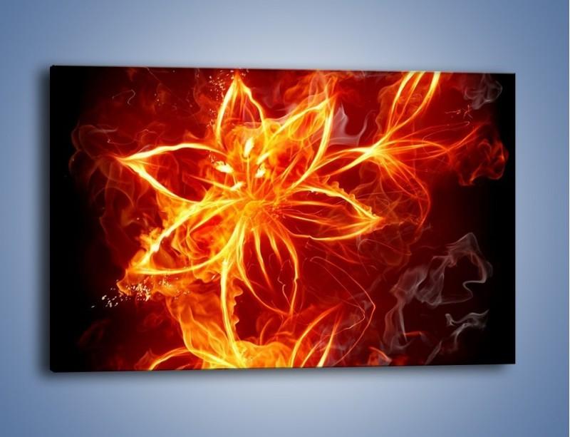 Obraz na płótnie – Spłonąć jak kwiat – jednoczęściowy prostokątny poziomy GR527