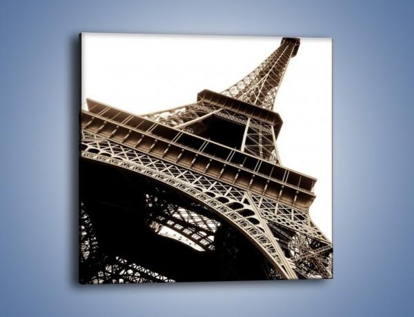 Obraz na płótnie – Wieża Eiffla w kolorze sepii – jednoczęściowy kwadratowy AM445