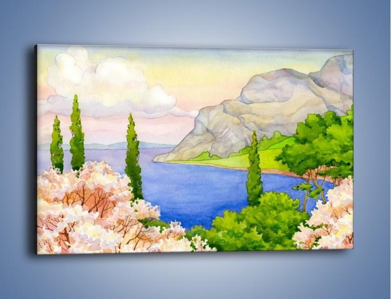 Obraz na płótnie – Krajobraz jak z pocztówki – jednoczęściowy prostokątny poziomy GR541
