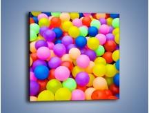 Obraz na płótnie – Basen z kolorowymi piłeczkami – jednoczęściowy kwadratowy O208