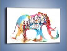 Obraz na płótnie – Słoń z niejedną historią – jednoczęściowy prostokątny poziomy GR562