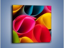 Obraz na płótnie – Kolorowe rulony – jednoczęściowy kwadratowy O217