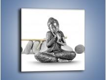 Obraz na płótnie – Budda wśród szarości – jednoczęściowy kwadratowy O220