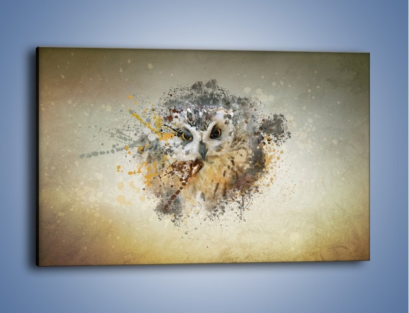 Obraz na płótnie – Czujne spojrzenie sowy – jednoczęściowy prostokątny poziomy GR592