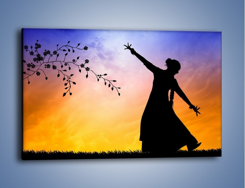 Obraz na płótnie – Wieczorny cygański taniec – jednoczęściowy prostokątny poziomy GR597