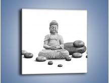 Obraz na płótnie – Budda wśród kamieni – jednoczęściowy kwadratowy O229