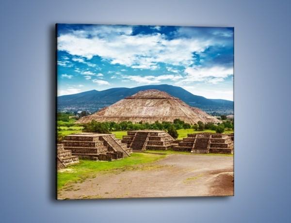 Obraz na płótnie – Piramida Słońca w Meksyku – jednoczęściowy kwadratowy AM450