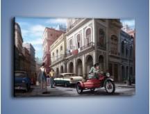 Obraz na płótnie – Codzienne życie na kubie – jednoczęściowy prostokątny poziomy GR627