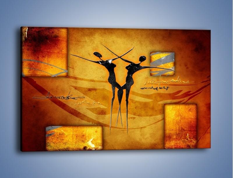 Obraz na płótnie – Dotyk w tańcu – jednoczęściowy prostokątny poziomy GR633