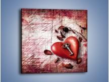 Obraz na płótnie – Klucz do serca – jednoczęściowy kwadratowy O246