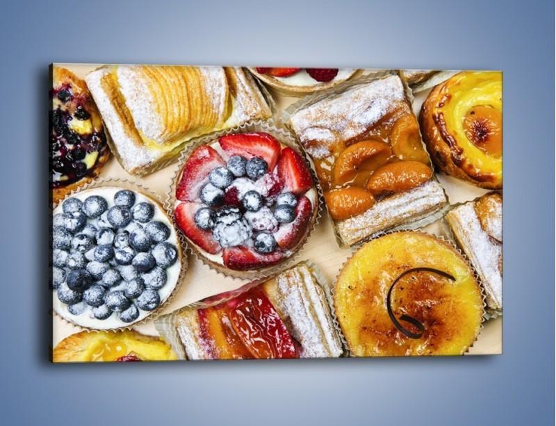 Obraz na płótnie – Kolorowe wypieki z dodatkiem owoców – jednoczęściowy prostokątny poziomy JN032