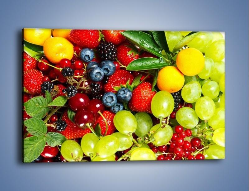 Obraz na płótnie – Wymieszane kolorowe owoce – jednoczęściowy prostokątny poziomy JN037
